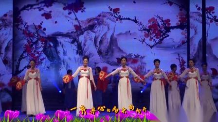 旗袍综艺表演《红梅赞》中江社区旗袍队