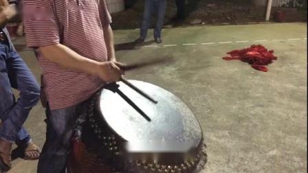 红花醒狮队师傅打鼓教学学