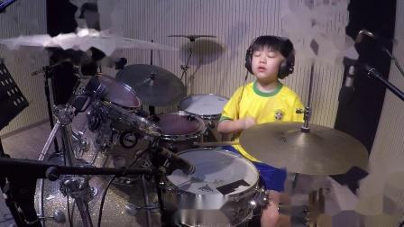 深圳八岁架子鼓手孙浩正《Munky Fusic》鼓唐音乐教