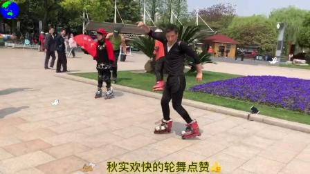 """""""轮滑是一种精神"""" 2019年4月12日,大家在上海闵"""