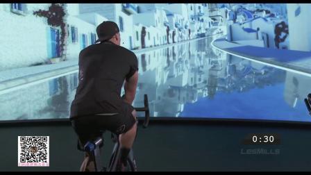 健身房流行课程动感单车酷炫投影单车THE_TRIP_1