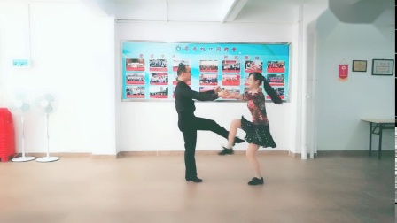 《三步踩铜CC》铜牌音乐演示,王雄老师与邬彩凤