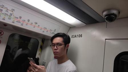 广州地铁3号线南北贯通车体育西路报站