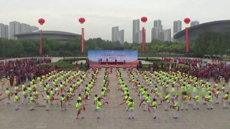 淄博市体育中心展演百人腰鼓