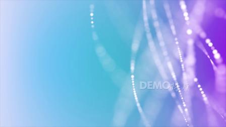 v356 2k画质超唯美梦幻浪漫蓝白色光晕光点粒子线