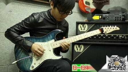 崔冠可电吉他独奏曲视频演示街头霸王《Guile》