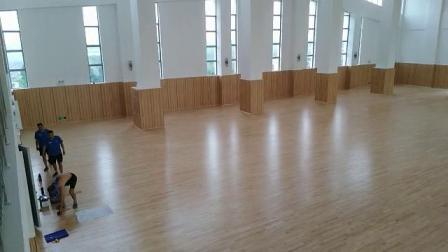 凯洁室内篮球馆木地板 体育场地木地板安装 实木