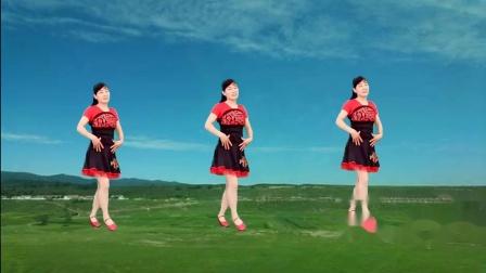 一支三步踩音乐《山谷里的思念》广场舞,歌美