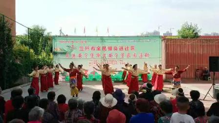 玉婷锅庄舞队参加市体育局举办的全民健身进社