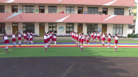 射阳湖镇中心幼儿园体育项目展示(喜欢求转发