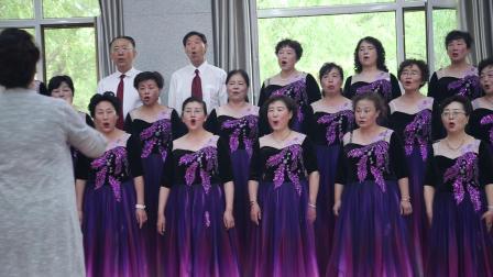 表演唱《大红公鸡毛腿腿》兰州老年大学音乐基