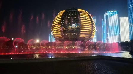 杭州钱江新城(杭州大剧院)音乐喷泉《千年等一回