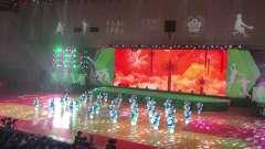 昆山高新区第3届体育运动会开幕式,优美的扇子