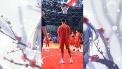 中国男篮赛前找手感,王哲林罚球毫无压力,现