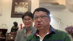 演奏家邓为民与上海越剧院钱丽亚祝贺由梅拉诺