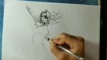 【王者荣耀速写12】米莱狄之毁女神系列