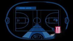 AM21116 蓝线框篮球元素 动感炫酷光速 街头篮球