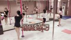 石家庄依芸钢管舞,日常练习2