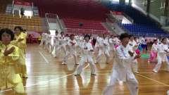 百人健身气功八段锦,仁化县老年人体育协会在
