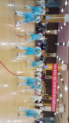 天津第五体育场大舞表演