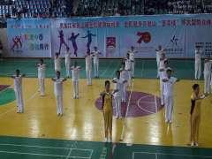 密山市柳毛乡政府代表队2019年参加体育馆大型演
