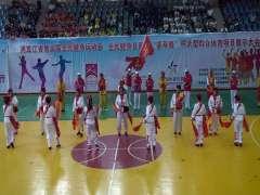 密山市东方健身站腰鼓队2019年参加体育馆演出