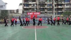 雅安市体育午蹈协会8月8日健身活动表演 (5)