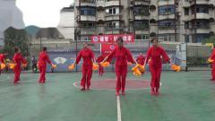 雅安市体育午蹈协会8月8日健身活动表演 (3)