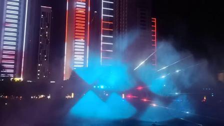 山西太原二青会,长风商务区水幕电影喷泉,太