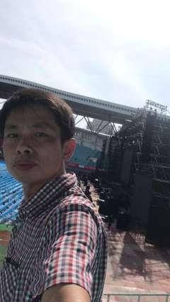 2019727谭咏麟肇庆体育中心演唱会布置现场2