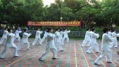 2019年潮南区体育运动进社区太极拳展演活动