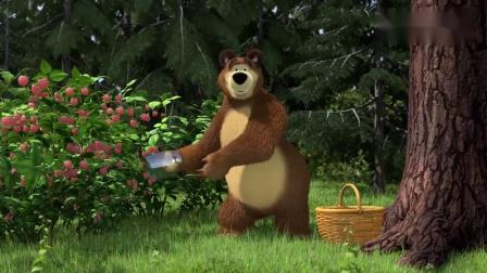 亲子搞笑动画:小萝莉厨艺赞,胡萝卜也能做果酱,熊熊吃的好香