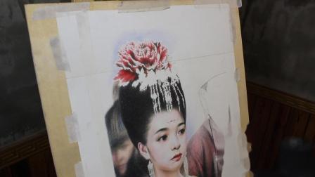 彩铅手绘古装美女的教程(一)