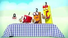 数字方块 搞笑动画:大家都有好吃的 就0弟没有