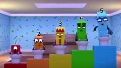 """数字方块 搞笑动画:起床第一件事""""刷牙""""做个"""
