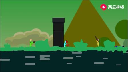 搞笑动画:开始局就落在变色云上,楞子话还没