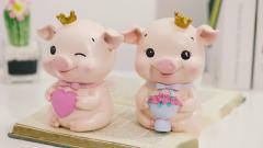君晓天云粉色卡通树脂小猪存钱罐可爱少女心房