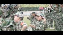 怀远红星幼儿园大型军事亲子活动