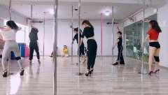 成都钢管舞培训 成人钢管舞入门学习 钢管舞舞蹈