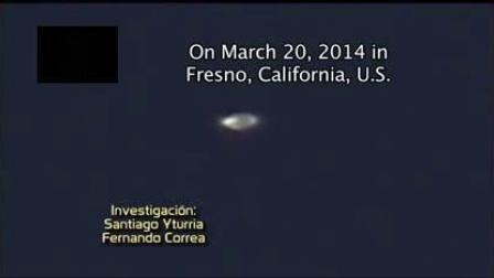 UFO目击&&空中静止不动的银色UFO!