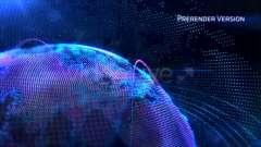 AE模板-科技感HUD地球动画 Cy*er Earth