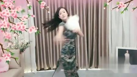 【美女热舞】YY主播漫漫-中国古风舞-叹~绿花旗袍