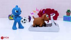 【搞笑动画】狗子才是真正的BOSS,小蓝人的内心