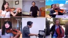 不同国籍的音乐大师,以网络视频的方式合作演
