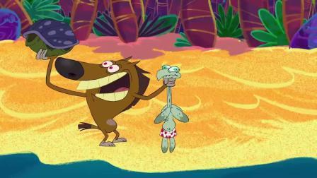 鬣狗被火山爆发冲击力送到银河系 幽默动画