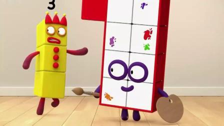 数字方块 搞笑动画:你们这个姿势有点暧昧啊