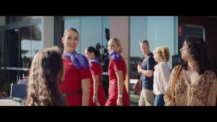 维珍澳大利亚航空创意广告《飞翔的假发》