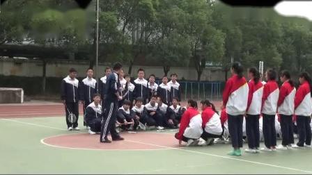 [配课件教案]1.九年级体育《正手发高远球》江西