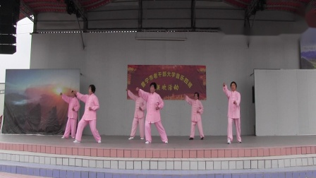 普宁市老干部大学音乐4班联欢活动18 太极拳《沙