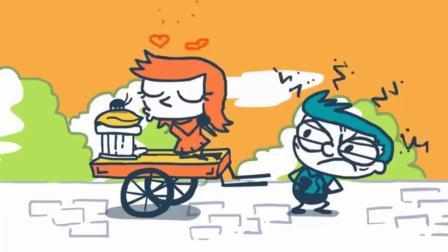 【微微一笑】铅笔人搞笑动画创意涂鸦:小强闹